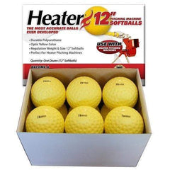 Heater 12'' Dimpled Pitching Machine Softballs (1 Dozen) PMB39
