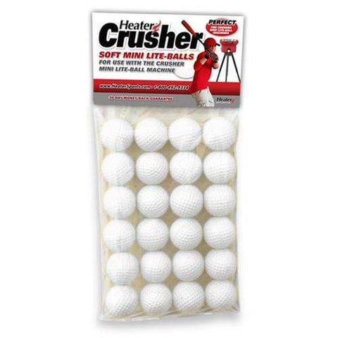 Heater Crusher Soft Mini Pitching Machine Lite-Balls (2 Dozen) CR12