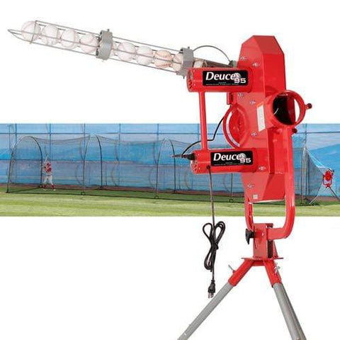 Heater Deuce 95 MPH  Pitching Machine w/ Xtender 48' Batting Cage DC1499