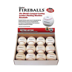 Heater Fireballs Leather Pitching Machine Baseballs (1 Dozen) PMBL44_TOP_GRAIN