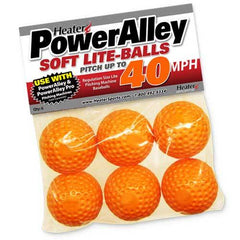 Heater PowerAlley 40 MPH Orange Soft Lite Pitching Machine Baseballs