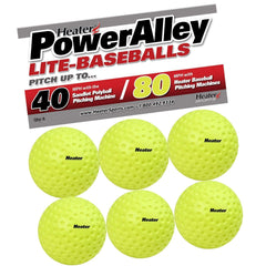 Heater PowerAlley 80 MPH Green Lite Pitching Machine Baseballs