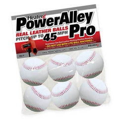 Heater PowerAlley Pro Leather Pitching Machine Baseballs PAPMBL44