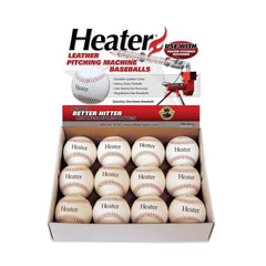 Heater Sports Leather Pitching Machine Baseballs (1 Dozen) PMBL44