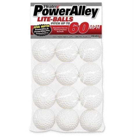 Heater Sports PowerAlley 60 MPH Lite Cricket Balls Dozen SLB19CR