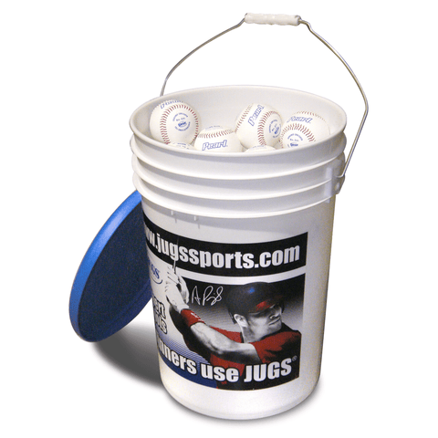 JUGS Bucket of Pearl Pitching Machine Baseballs (4 Dozen) B5210