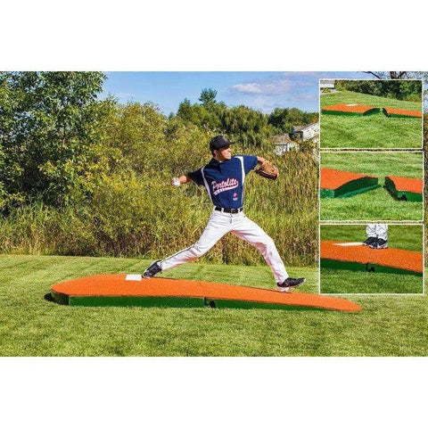 "Portolite Two-Piece 10"" Standard Portable Practice Pitching Mound 2PC1175"