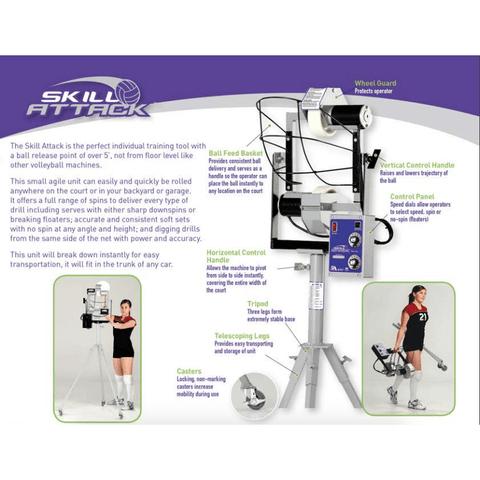 Skill Attack Volleyball Serving Machine by Sports Attack 122-1100
