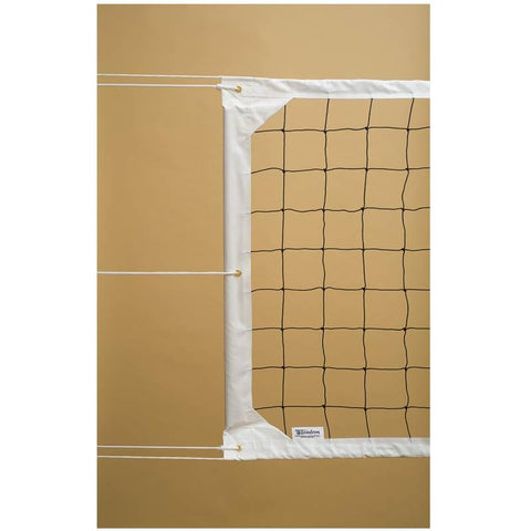 "Tandem 39"" Heavy Duty Competition Cable Top Volleyball Net TS39CABLECOMP"