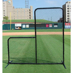 Trigon 7' x 7' ProCage 'Black Series' Baseball L-Screen BSL77P