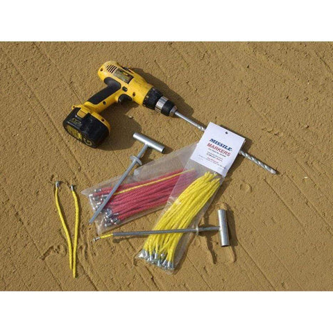 True Pitch Missile Markers Baseball Field Marking Kit