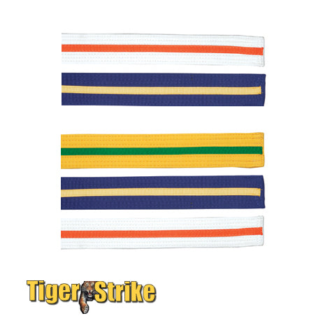 Custom Color Striped Belts