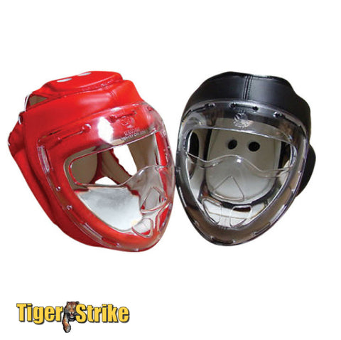 Head Guard w/ Clear Face Shield