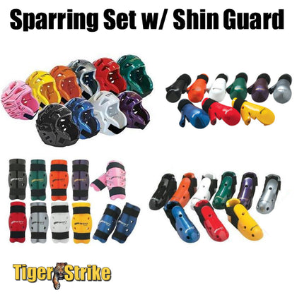 Custom Sparring Gear Package w/ Shin Guards