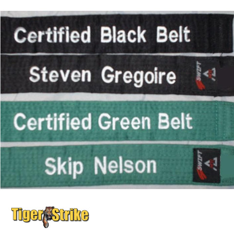 Custom Six Sigma Belts