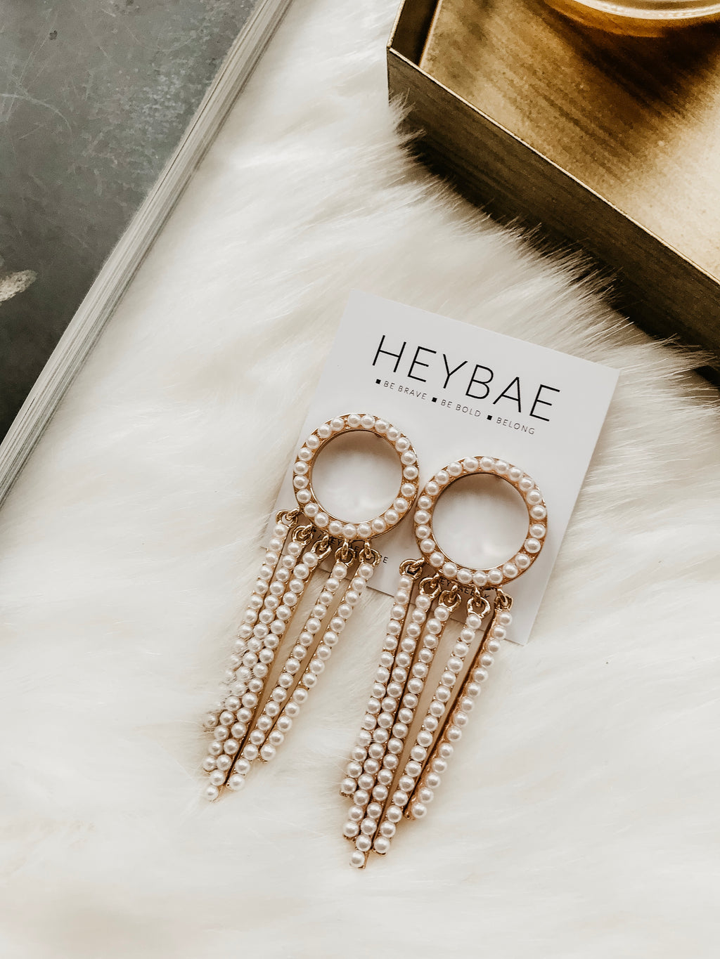 Miya Pearl Drop Earrings by HEYBAE