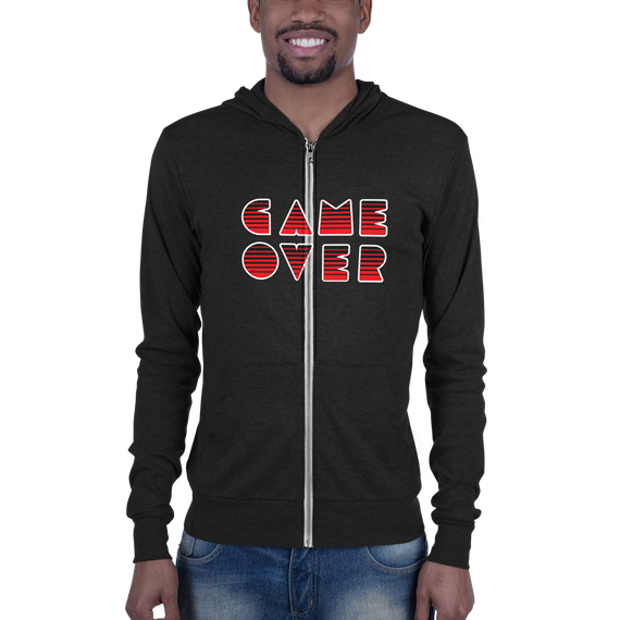 game over zip-up