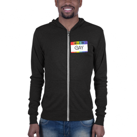hello, i'm gay zip-up