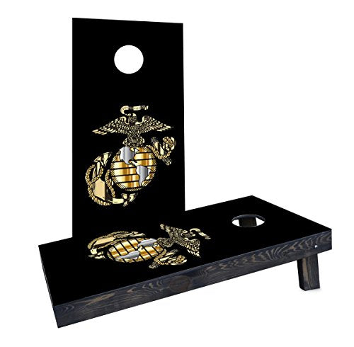 Custom Cornhole Boards Incorporated CCB504-2x4-C USMC logo Cornhole Boards