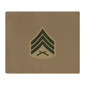 "CafePress USMC: Sgt E-5 (Service B) - Soft Fleece Throw Blanket, 50""x60"" Stadium Blanket"