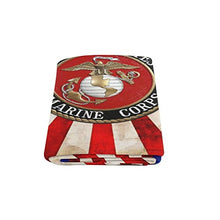 New Year Gifts/Thanksgiving Day USMC United States Marine Corps Warmer Winter Fleece Throw Plush Blanket 58 x 80 inches (Large)