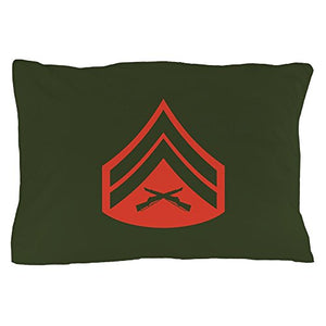 "CafePress USMC: Cpl E-4 (Service) - Standard Size Pillow Case, 20""x30"" Pillow Cover, Unique Pillow Slip"