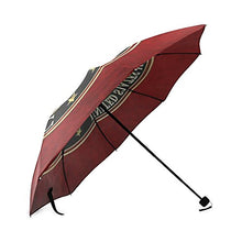 USMC United States Marine Corps Compact Foldable Rainproof Windproof Travel Umbrella