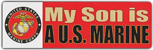 Bumper Stickers: MY SON IS A US MARINE | USMC US Marine Corp Semper Fi