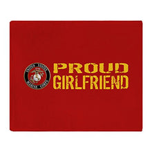"CafePress USMC: Proud Girlfriend (Red & Gold) - Soft Fleece Throw Blanket, 50""x60"" Stadium Blanket"