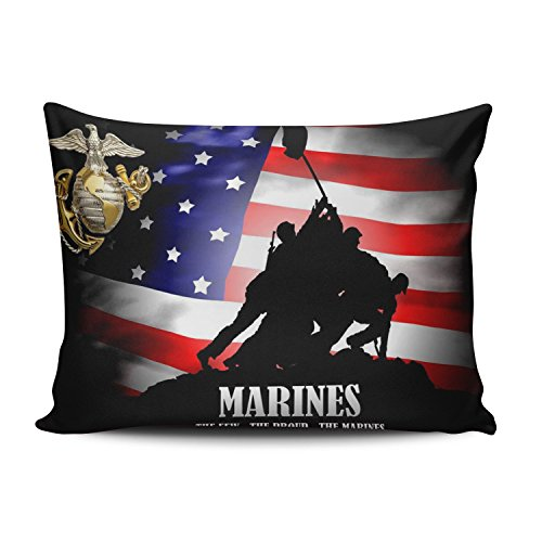 KEIBIKE Pillow Case Classic United States Marine Corps Usmc Personalized Rectangle Pillowcases Funny Decorative Throw Pillow Covers Cases Standard 20x26 Inches