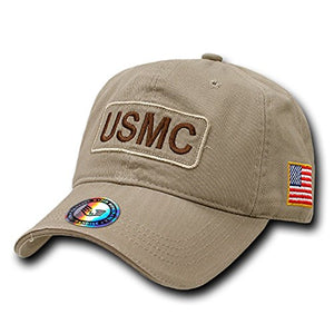Rapid Dominance Genuine Dual Flag Raid Caps Baseball Hat (USMC Marines)