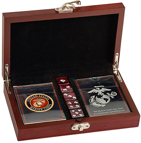 Marine Corps Playing Card with EGA Dice Gift Set