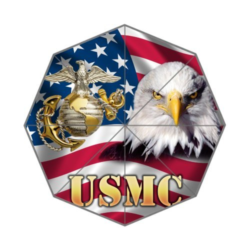 New Year Gifts/Thanksgiving Day US Flag USMC United States Marine Corps 100% Fabric And Aluminium High-quality Umbrella