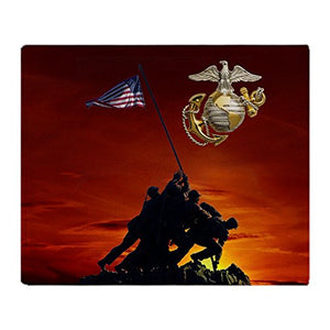 "CafePress - Marine Sunset Memorial - Soft Fleece Throw Blanket, 50""x60"" Stadium Blanket"
