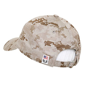 BHFC United States US Marine Corp USMC Marines Polo Relaxed Cotton Low Crown Baseball Cap Hat (Camo 2)