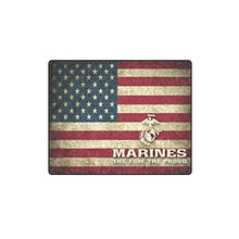 USMC United States Marine THE FEW THE PROUD American Flag Warmer Winter Fleece Throw Plush Blanket 40 x 50 inches (Small)