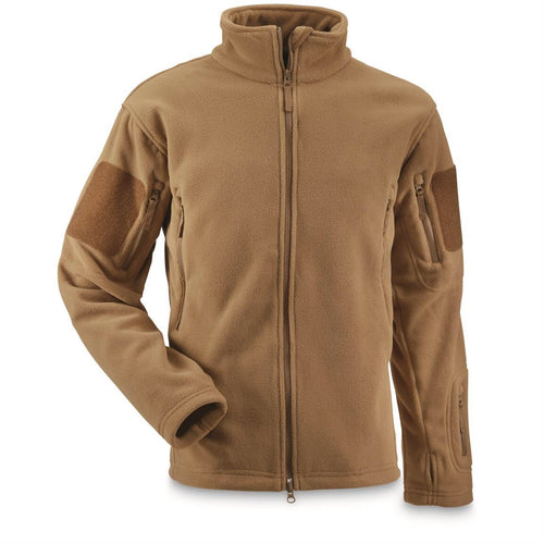 USMC Style Polartec 300 Coyote Spartian Fleece Jacket (Medium)
