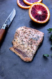 Ready to eat Wild Salmon filet camping meals. Gourmet camping food and great protein idea for your next trip.