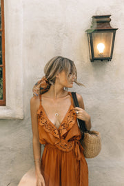 Casey Jumpsuit in Camel