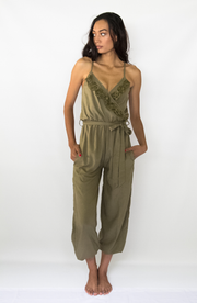 Casey Jumpsuit in Olive - YIREH