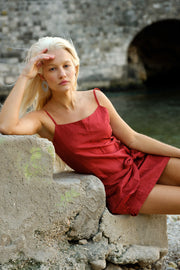 Izzy Dress in Cardinal - YIREH