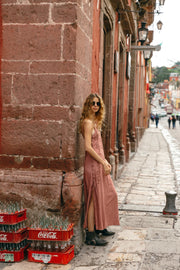 Kitt Dress in Dusty Rose