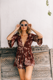 Nora Playsuit in Watercolor Rose