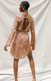 Midori Dress in Clay - Size Small (Seconds Sale #SS112)