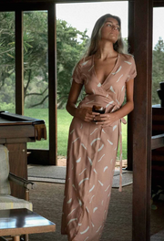 Isabella Wrap Maxi in Clay - Size Small (Seconds Sale #SS118)
