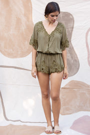 Luna Playsuit in Olive
