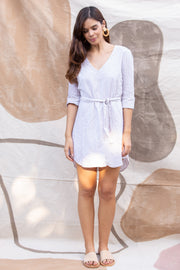 Midori Dress in Sand Stripe - YIREH