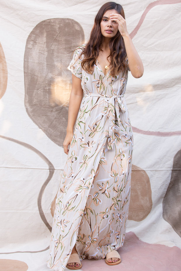 Isabella Wrap Maxi in Antoinette
