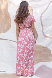 Isabella Wrap Maxi in Nectarine