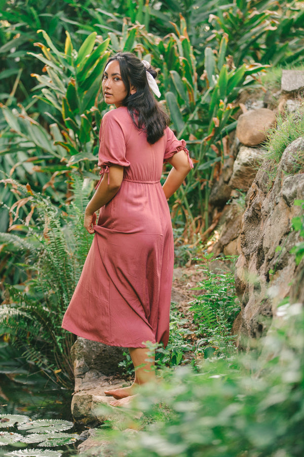 Clementine Dress in Dusty Rose